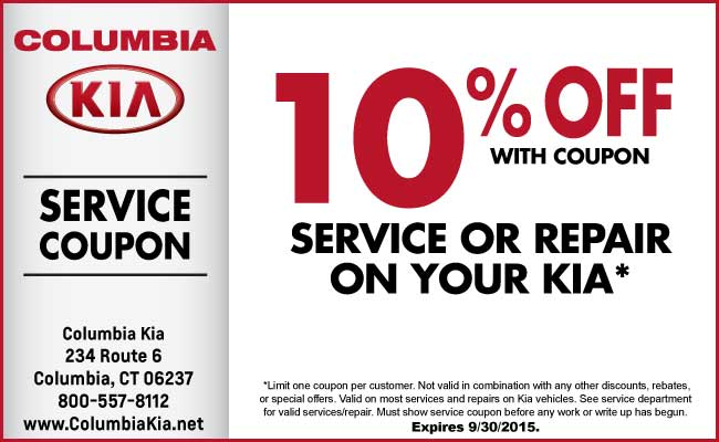 Kia service discount coupons